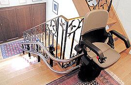 Treppenlift-Fahrbahn